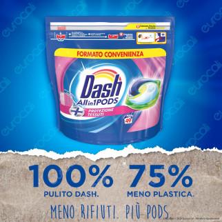 Dash All in 1 Pods Protezione Tessuti Detersivo in Capsule - Confezione da 49 Pastiglie