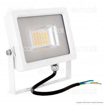 V-Tac VT-4820 Faretto LED SMD 20W Ultra Sottile da Esterno Colore Bianco