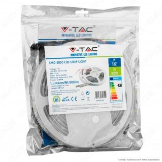 V-Tac Striscia LED 5050 Impermeabile Monocolore 30 LED/metro - Bobina da 5 metri - SKU 2144