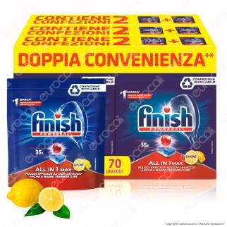 Finish Powerball Tutto in 1 Max al Limone per Lavastoviglie - 210 Pastiglie