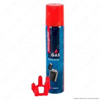 Polyflame Silver Match Gas Puro per Ricarica Accendini - Bomboletta da 90ml