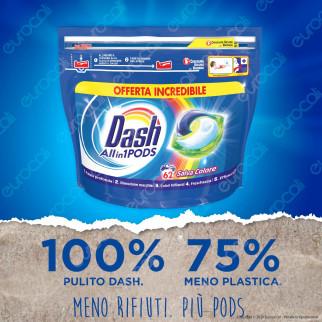 Dash All in 1 Pods Salvacolore Detersivo in Capsule - Confezione da 62 Pastiglie