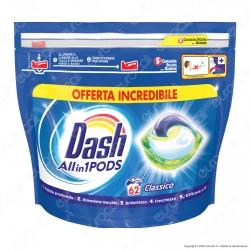 Dash All in 1 Pods Classico Detersivo in Capsule - Confezione da 62 Pastiglie