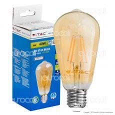 V-Tac VT-1964 Lampadina LED E27 4W Bulb ST64 Filamento