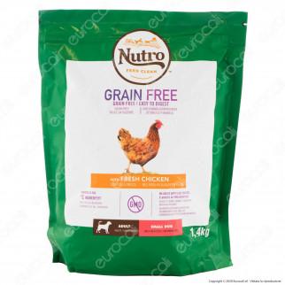 Nutro Grain Free con Pollo Fresco Cibo per Cani Adulti di Taglia Piccola - Busta da 1,4Kg