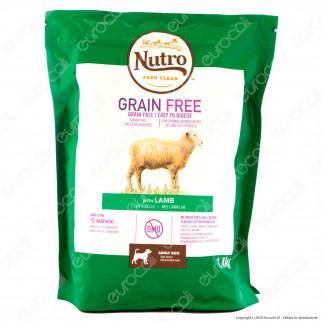 Nutro Grain Free con Agnello Cibo per Cani Adulti Taglia Medio Grande - Busta da 1,4Kg