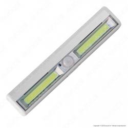Velamp Smarty Luce LED 3W a Batteria Reglette con Sensore di Movimento - mod. LT011