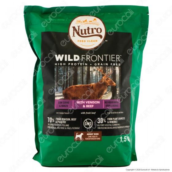 Nutro Wild Frontier con Manzo Pollame e Cervo Cibo per Cani Adulti Taglia Medio Grande - Busta da 1,5Kg