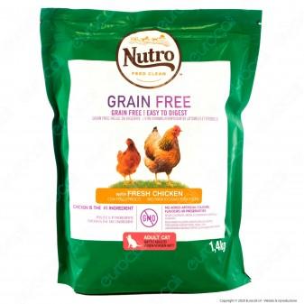 Nutro Grain Free con Pollo Fresco Cibo Secco per Gatti Adulti - Busta da 1,4Kg
