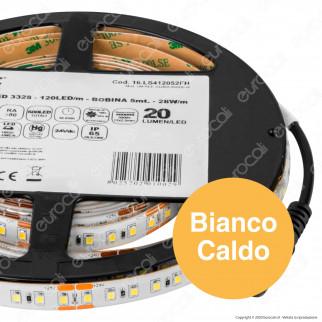 Life Striscia LED 3328 Impermeabile Monocolore 120 LED/metro - Bobina da 5 metri