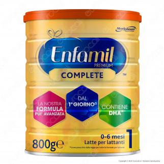 Enfamil Premium Complete 1 Latte in Polvere per Neonati - Barattolo da 800g