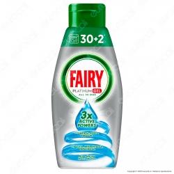 Fairy Platinum Gel detersivo per Lavastoviglie Brezza Marina 32 lavaggi - Flacone da 650ml