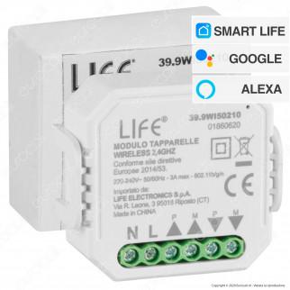 Life Modulo 2CH Tapparelle Wi-Fi 2,4 GHZ 30 Metri - mod. 39.9WI50210