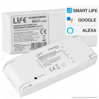 Life Modulo 5in1 per Tutte le Strisce LED 5CH Monocolore/RGB/RGBW/RGB + CCT - mod. 39.9WS30RGBT