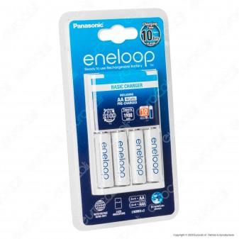 Panasonic Eneloop Caricabatterie BQ-CC51E + 4 Pile Stilo AA 1900 mAh