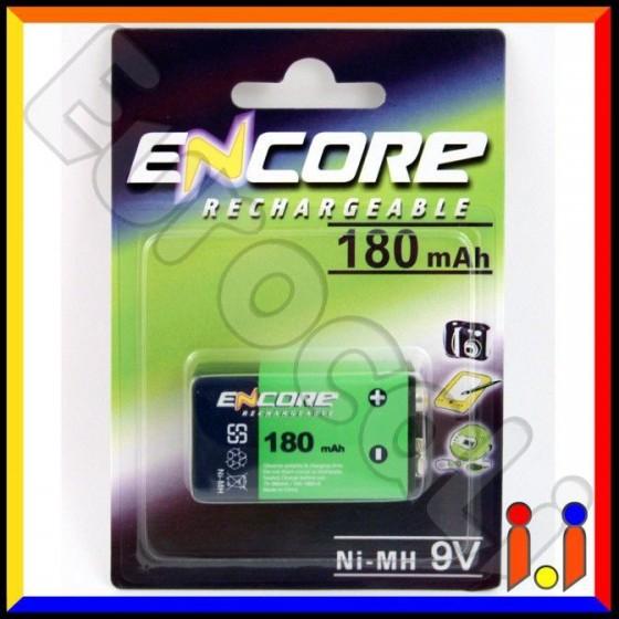 Uniross Encore Transistor Pila Ricaricabile 9V - Blister 1 Batteria