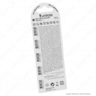 Uniross Pile Alcaline a Bottone AG3 / LR736 / G3 / LR41 / 192 / 392 1,5V - Blister da 5 Batterie