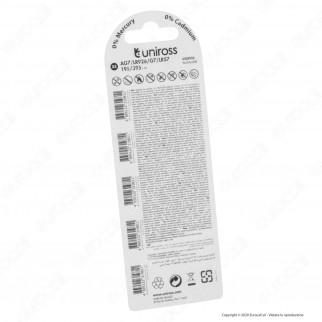 Uniross Pile Alcaline a Bottone AG7 / LR926 / G7 / LR5 /95 /395 1,5V - Blister da 5 Batterie