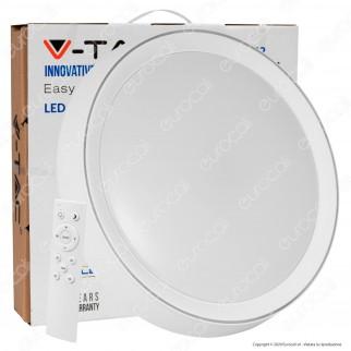 V-Tac VT-8402 Plafoniera LED 3in1 20W / 40 W Forma Circolare con Telecomando - SKU 14761