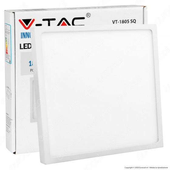 V-Tac VT-1805 SQ Pannello LED Quadrato 18W - SKU 4919 / 4920
