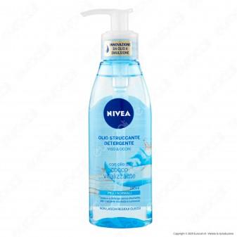 Nivea Olio Struccante Detergente Viso e Occhi per Pelli Normali con Olio di Cocco Vitalizzante - Flacone da 150ml