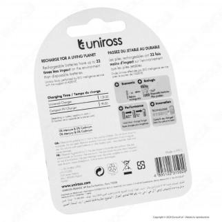 Uniross Pila Ricaricabile Hybrio 9V /6HR61 / PP3 Ni-MH 1,2V 190mAh - Blister da 1 Batteria