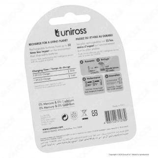 Uniross Pile Ricaricabili Hybrio AA/HR6 Ni-MH 1,2V 2000mAh - Blister da 2 Batterie