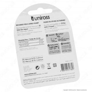 Uniross Pile Ricaricabili Hybrio AA/HR6 Ni-MH 1,2V 2350mAh - Blister da 4 Batterie