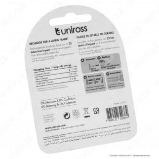 Uniross Pile Ricaricabili Hybrio AAA/HR03 Ni-MH 1,2V 550mAh - Blister da 4 Batterie