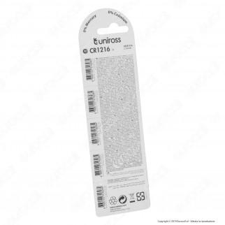 Uniross Lithium Pile al Litio CR1216 3V - Blister da 5 Batterie