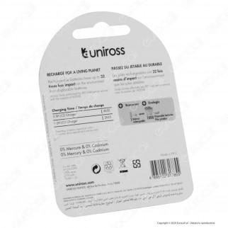 Uniross Pile Ricaricabili Series Premium AA/HR6 Ni-MH 1,2V 2500mAh - Blister da 2 Batterie
