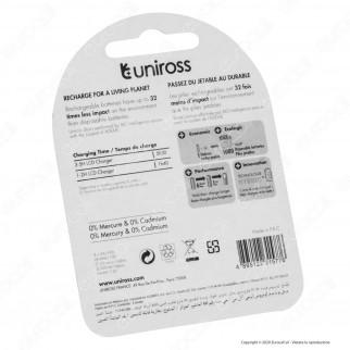 Uniross Pile Ricaricabili Hybrio AA/HR6 Ni-MH 1,2V 2000mAh - Blister da 4 Batterie