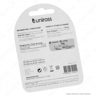 Uniross Pile Ricaricabili Hybrio C/HR14 Ni-MH 1,2V 2900mAh - Blister da 2 Batterie