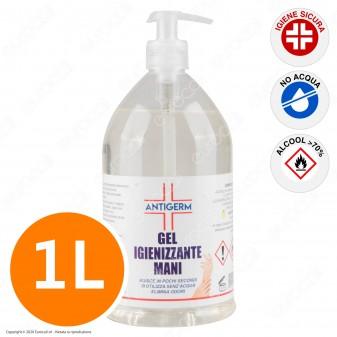 Gel Liquido Alcolico Igienizzante Mani con Alcol ≥70% - Flacone da 1000ml con Dosatore a Pressione