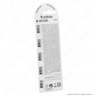 Uniross Lithium Pile al Litio CR1220 3V - Blister da 5 Batterie