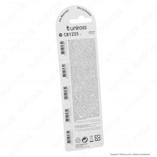 Uniross Lithium Pile al Litio CR1225 3V - Blister da 5 Batterie