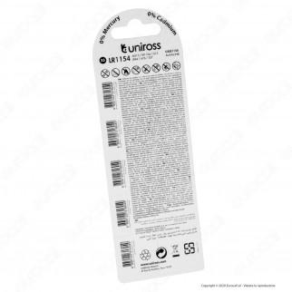 Uniross Pile Alcaline a Bottone AG13 / LR1154 / G13 / LR44 / A76 / 357 1,5V - Blister da 5 Batterie
