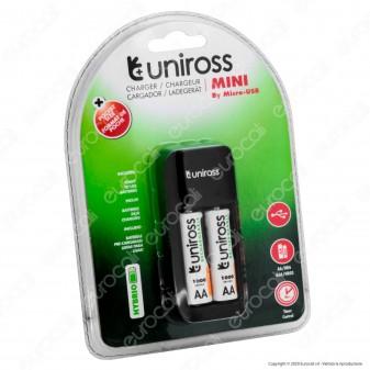 Uniross Caricabatterie Hybrio AA / HR6 - AAA / HR03 con Indicatori LED Alimentato da Cavo USB