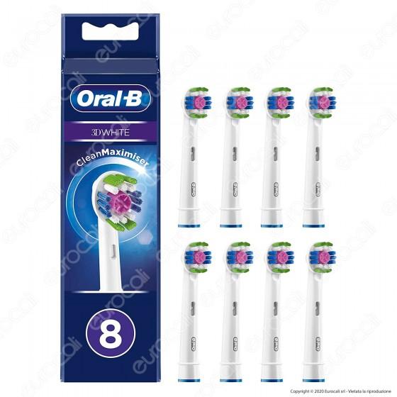 Oral-B 3D White Testine di Ricambio per Spazzolino Elettrico - Confezione da 8 Testine