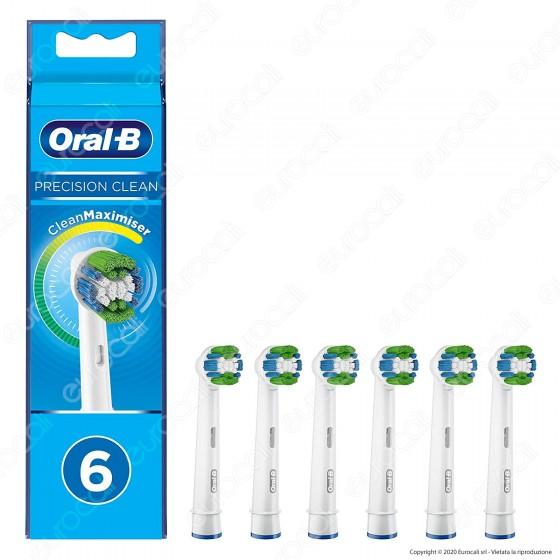Oral-B Precision Clean Testine di Ricambio per Spazzolino Elettrico - Confezione da 6 Testine
