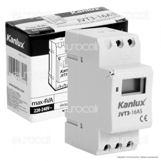 Kanlux JVT3-16AS Timer con Funzione Astronomica Universale per Lampadine e Dispositivi