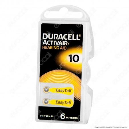 Duracell Activair Misura 10 - Blister 6 Batterie per Protesi Acustiche