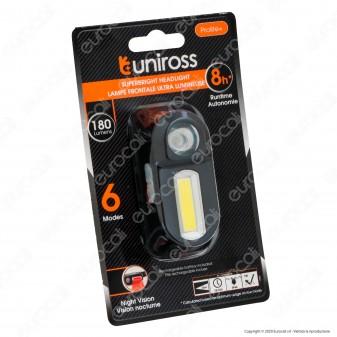 Uniross Torcia Frontale Headlight 6 Modalità di Illuminazione