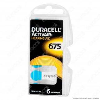 Duracell Activair Misura 675 - Blister 6 Batterie per Protesi Acustiche