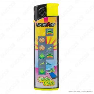 SmokeTrip Accendini Elettronici Ricaricabili Fantasia Candy Crack - Box da 50 Accendini