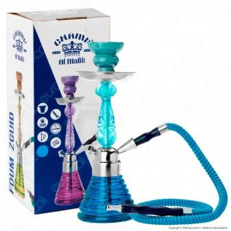 Champ Al Malik Foum Zguid Narghilè in Vetro Lavorato Azzurro mod. 40508006 - Altezza 27 cm