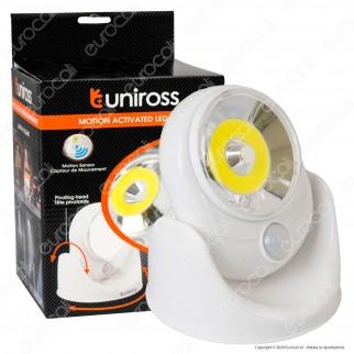 Uniross Torcia Torchlight Luminosa a Doppia Funzione con Banda laterale 3W IP54
