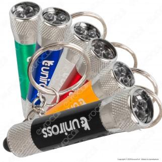 Uniross Torcia LED 3W Portachiave Tascabile in Alluminio