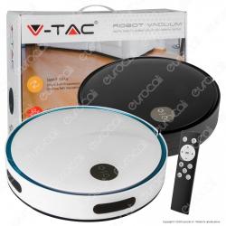 V-Tac VT-5522 Robot Aspirapolvere Ricaricabile con Telecomando - SKU 8659 / 8660