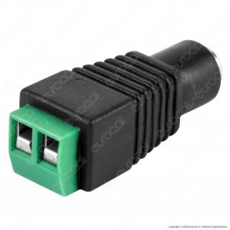 Connettore da Morsetti a Vite a Jack 2.1 per Strisce LED Monocolore - SKU 3512